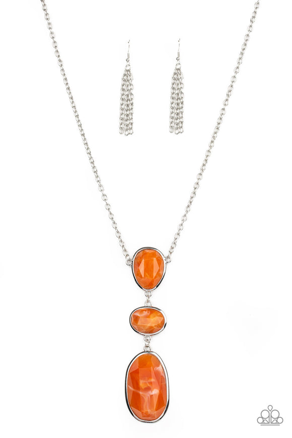 Paparazzi Necklaces All Eyes On U Accessories Orange