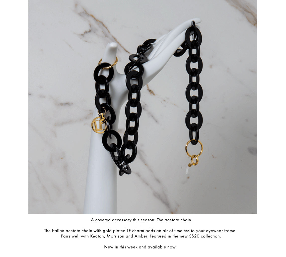 Linda Farrow Oval Acetate Chain