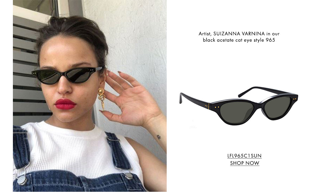 Artist, SUIZANNA VARNINA in ourblack acetate cat eye style 965 LFL965C1SUN