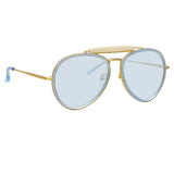Dries Van Noten 188 C3 Aviator Sunglasses