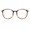 Linda Farrow Linear Gray C3 Oval Optical Frame