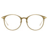 Linda Farrow Linear Gray C7 Oval Optical Frame