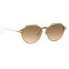 Linda Farrow Linear Wren A C11 Angular Sunglasses