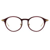Linda Farrow Linear Arris C4 Oval Optical Frame