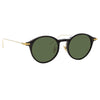 Linda Farrow Linear Arris C8 Oval Sunglasses