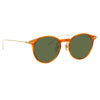 Linda Farrow Linear 08 C8 Oval Sunglasses