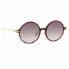 Linda Farrow Linear 9 C11 Round Sunglasses