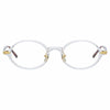 Linda Farrow Linear Eaves C3 Oval Optical Frame