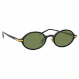 Linda Farrow Linear Eaves A C6 Oval Sunglasses