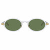 Linda Farrow Linear Eaves C8 Oval Sunglasses