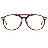 Linda Farrow Linear Ando A C2 Aviator Optical Frame