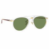 Linda Farrow Linear Ando A C9 Aviator Sunglasses