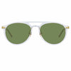Linda Farrow Linear 23 C5 Aviator Sunglasses