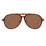 Linda Farrow Linear 24A C4 Aviator Sunglasses