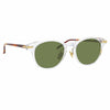 Linda Farrow Linear 25 C10 D-Frame Sunglasses