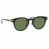 Linda Farrow Linear 25 C7 D-Frame Sunglasses