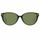Linda Farrow Linear 26A C7 Cat Eye Sunglasses