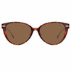 Linda Farrow Linear Arch C8 Cat Eye Sunglasses