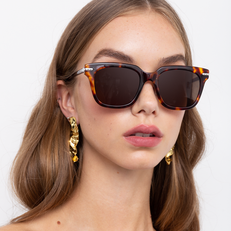 Empire D-Frame Sunglasses in Tortoiseshell