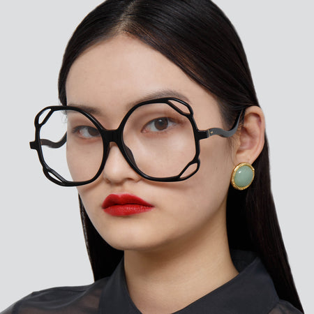 Jerry Oversized Optical Frame in Black