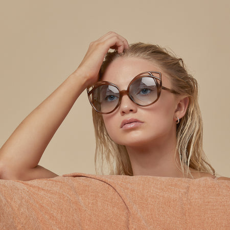 Isler Cat Eye sunglasses in Brown