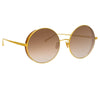 Linda Farrow Lockhart C4 Round Sunglasses