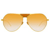 Linda Farrow 785 C4 Aviator Sunglasses