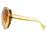 Linda Farrow Matheson C4 Aviator Sunglasses