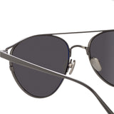 Linda Farrow Omar C4 Aviator Sunglasses