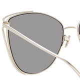 Linda Farrow 809 C2 Cat Eye Sunglasses