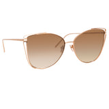 Linda Farrow Amina C5 Cat Eye Sunglasses