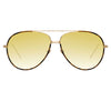 Linda Farrow Salem C13 Aviator Sunglasses