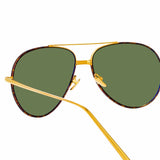 Linda Farrow Salem C14 Aviator Sunglasses