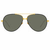 Linda Farrow Salem C15 Aviator Sunglasses