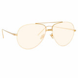 Linda Farrow Salem C16 Aviator Sunglasses
