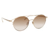 Linda Farrow Mina C5 Oval Sunglasses
