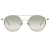 Linda Farrow Mina C6 Oval Sunglasses