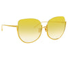 Linda Farrow Kennedy C4 Oversized Sunglasses