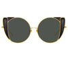 Linda Farrow 854 C1 Cat Eye Sunglasses