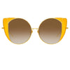 Linda Farrow 854 C3 Cat Eye Sunglasses