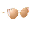 Linda Farrow Austin C6 Cat Eye Sunglasses