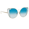 Linda Farrow Austin C7 Cat Eye Sunglasses