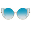 Linda Farrow 854 C7 Cat Eye Sunglasses