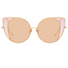 Linda Farrow 854 C8 Cat Eye Sunglasses