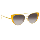 Linda Farrow 855 C3 Cat Eye Sunglasses
