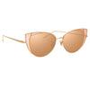 Linda Farrow 855 C6 Cat Eye Sunglasses