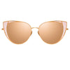 Linda Farrow Des Vouex C6 Cat Eye Sunglasses