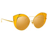 Linda Farrow 856 C4 Cat Eye Sunglasses
