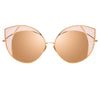 Linda Farrow 856 C6 Cat Eye Sunglasses
