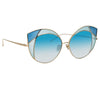 Linda Farrow 856 C7 Cat Eye Sunglasses